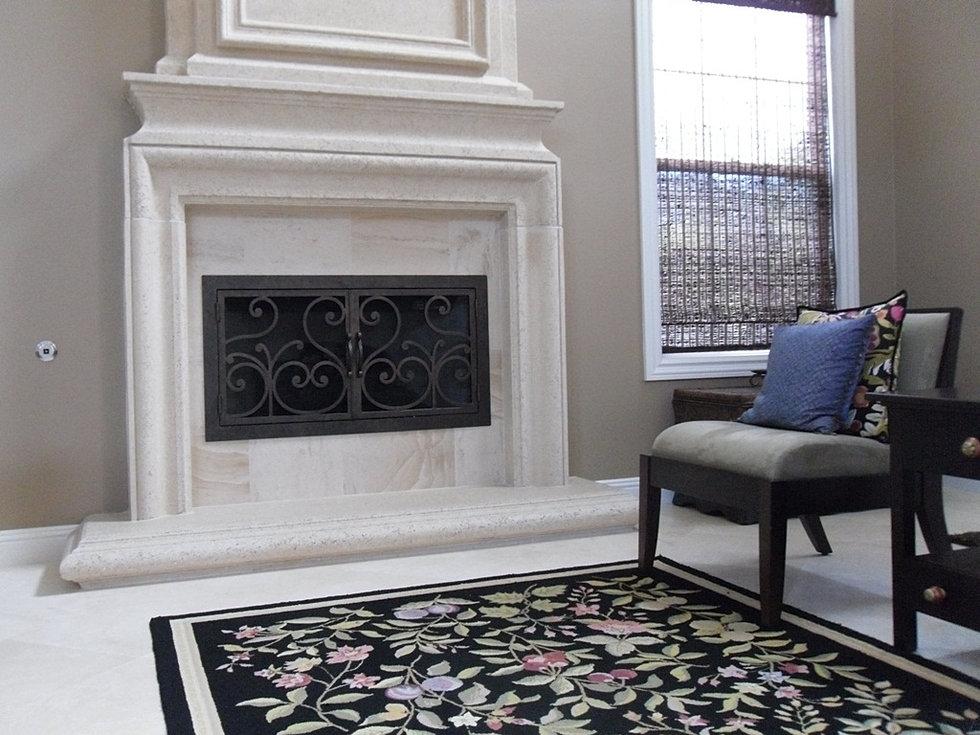 Fireplace Doors Model 1 - Iron Door Concepts/Wrought Iron Doors/Staircases/Tustin, CA