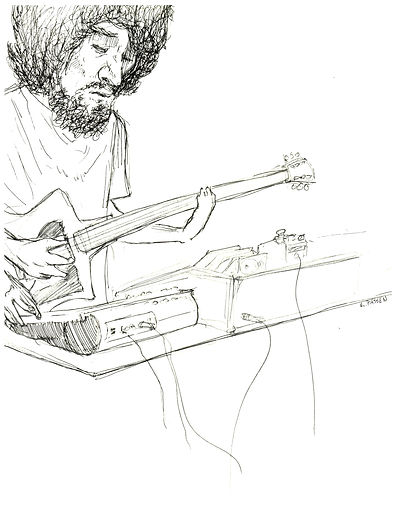 The Dead Shakers live drawing by Kyle Passen Summer 2017