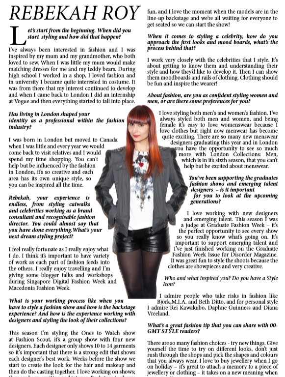 GMT STYLE - Interview