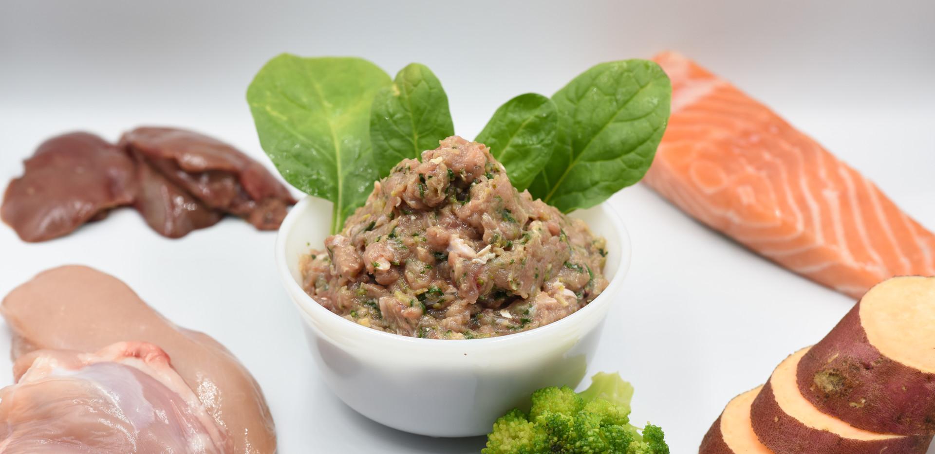 Chicken, Salmon & Organic Vegetables