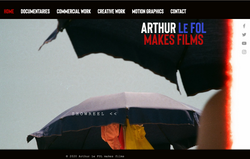 Arthur  Le FOL makes films