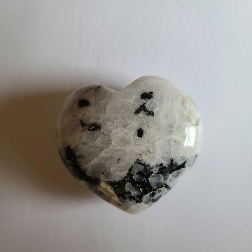 Rainbow Moonstone Heart 2
