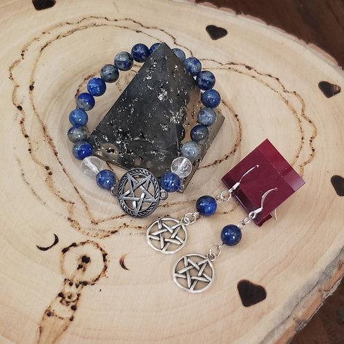 Lapis Lazuli Pentacle Set