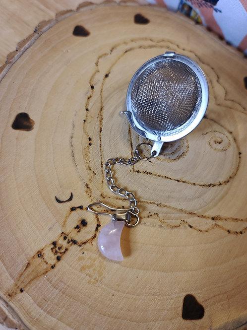 Rose Quartz Moon Tea Infusser