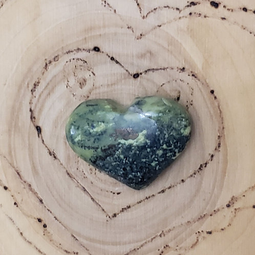 Serpentine with Pyrite Heart 1