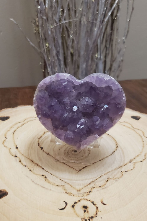 Druzy Amethyst Heart