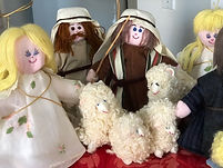 Fiber art Nativity