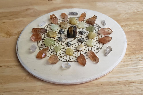 Seed of Life/Eye of Horus Crystal Grid Small