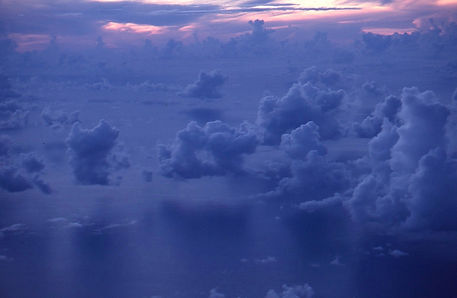 Flying to Palau - South Pacific cloud towers