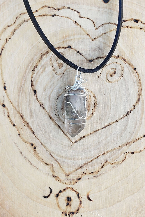 Phantom Quartz Point Pendant