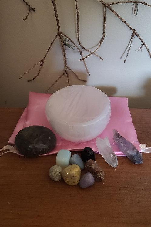 Selenite Bowl Set for Balance & Meditation