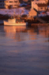 Maine lobster boat on the Pisquatta River from Portsmouth, NH view