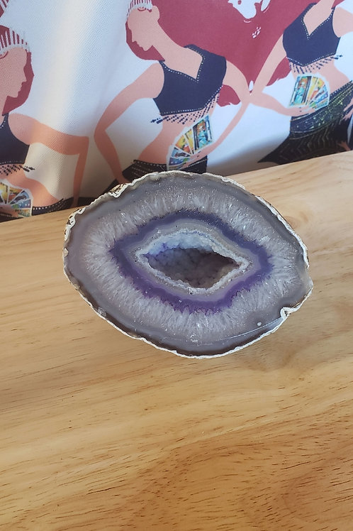Purple Agate Geode