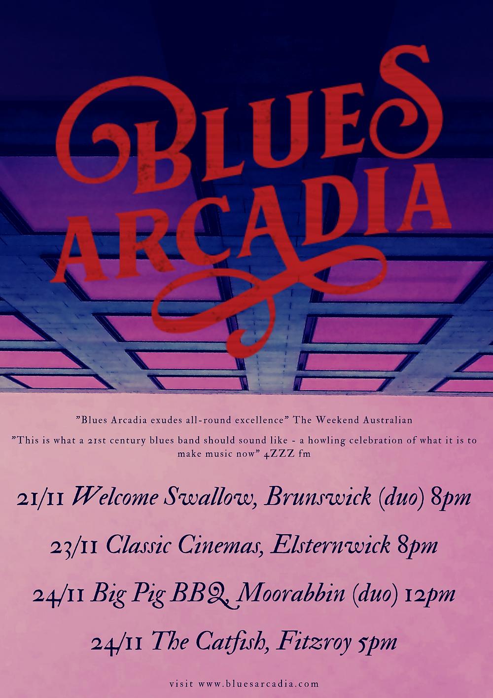 Blues Arcadia Melbourne November 2019