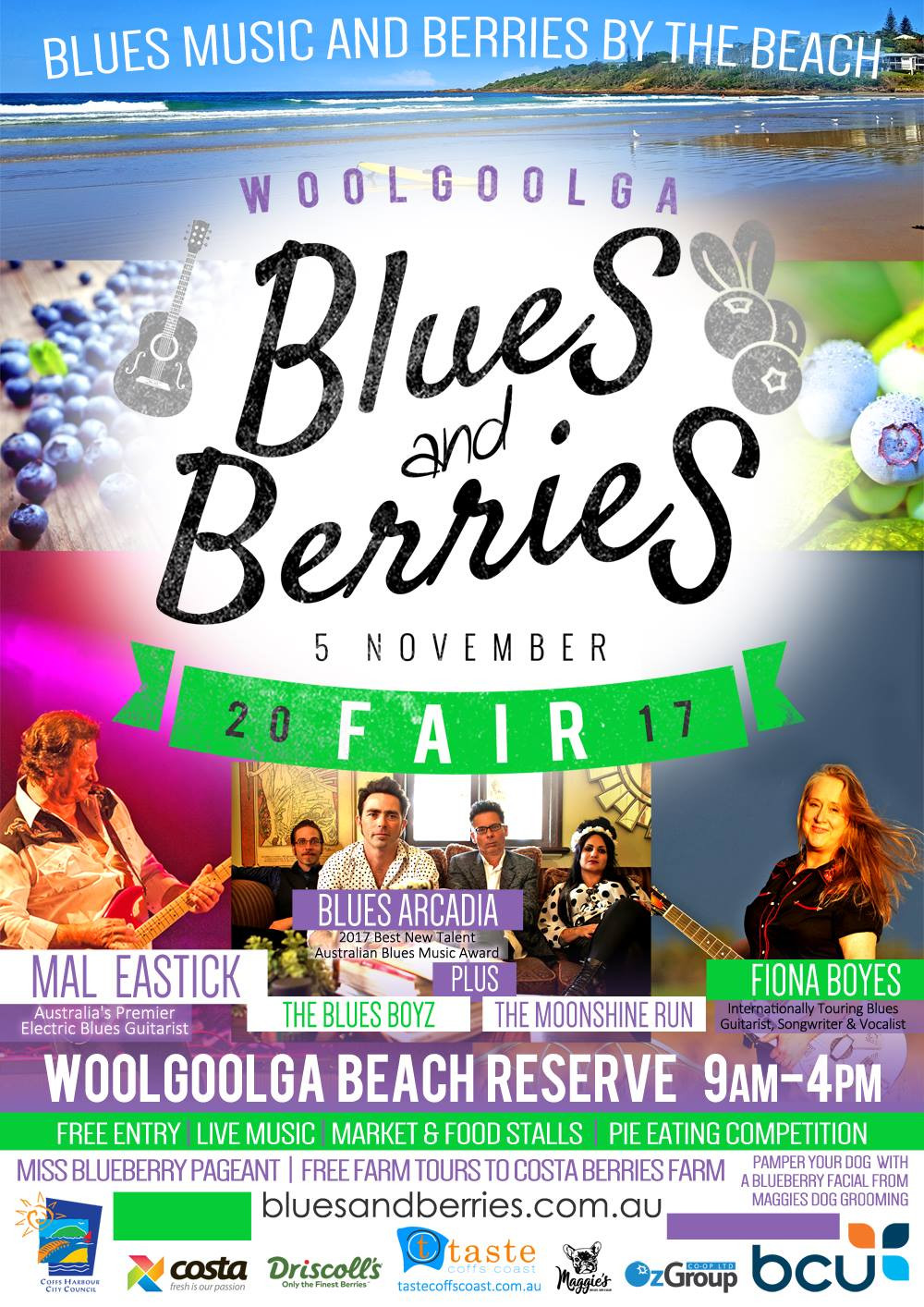 Woolgoolga Blues and Berries festival 2017