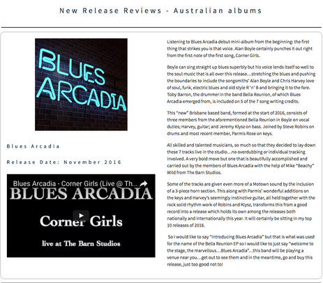 Australian Blues and Roots Charts EP Review