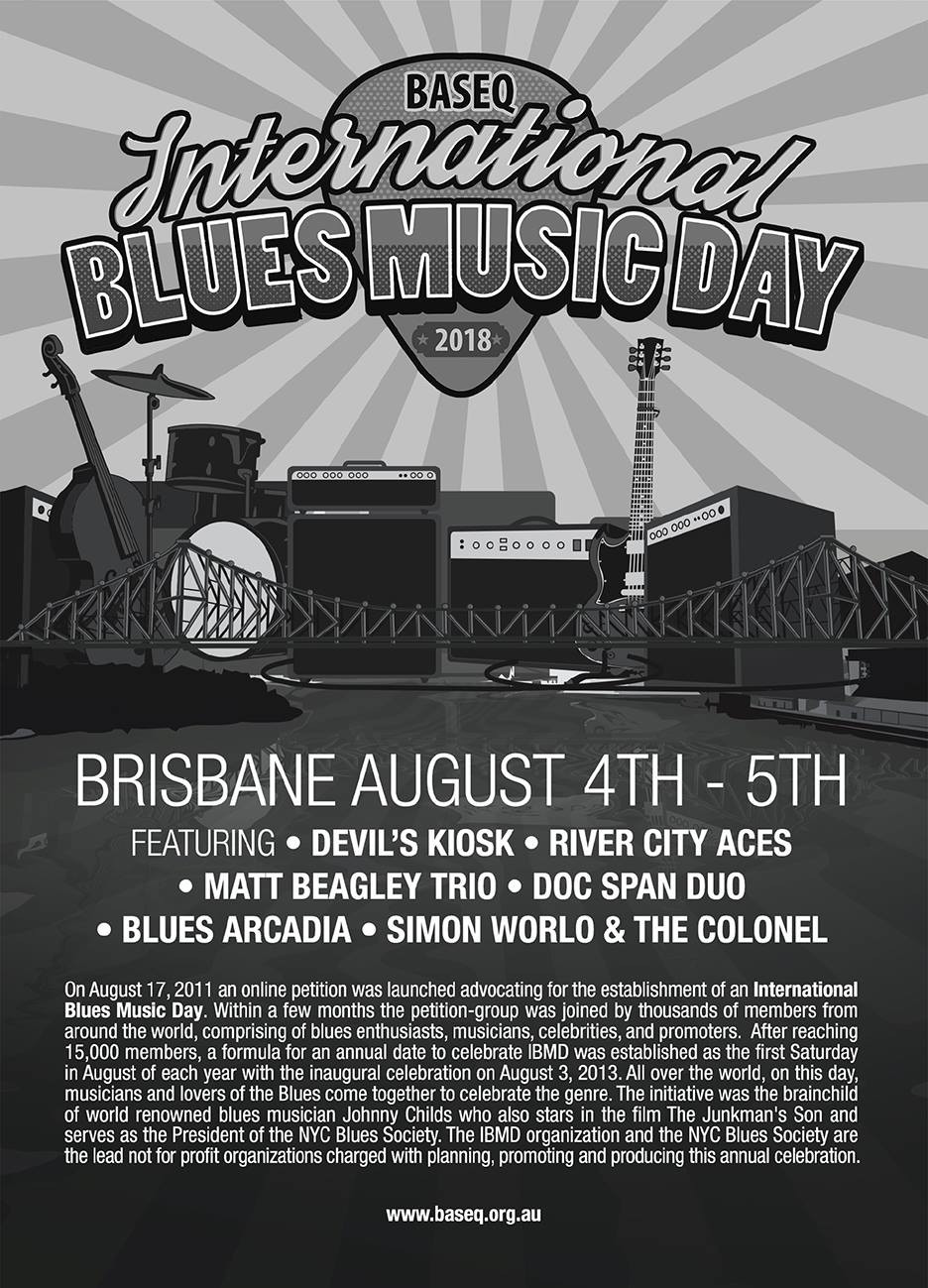Blues Arcadia, International Blues Music Day 2018, Brisbane