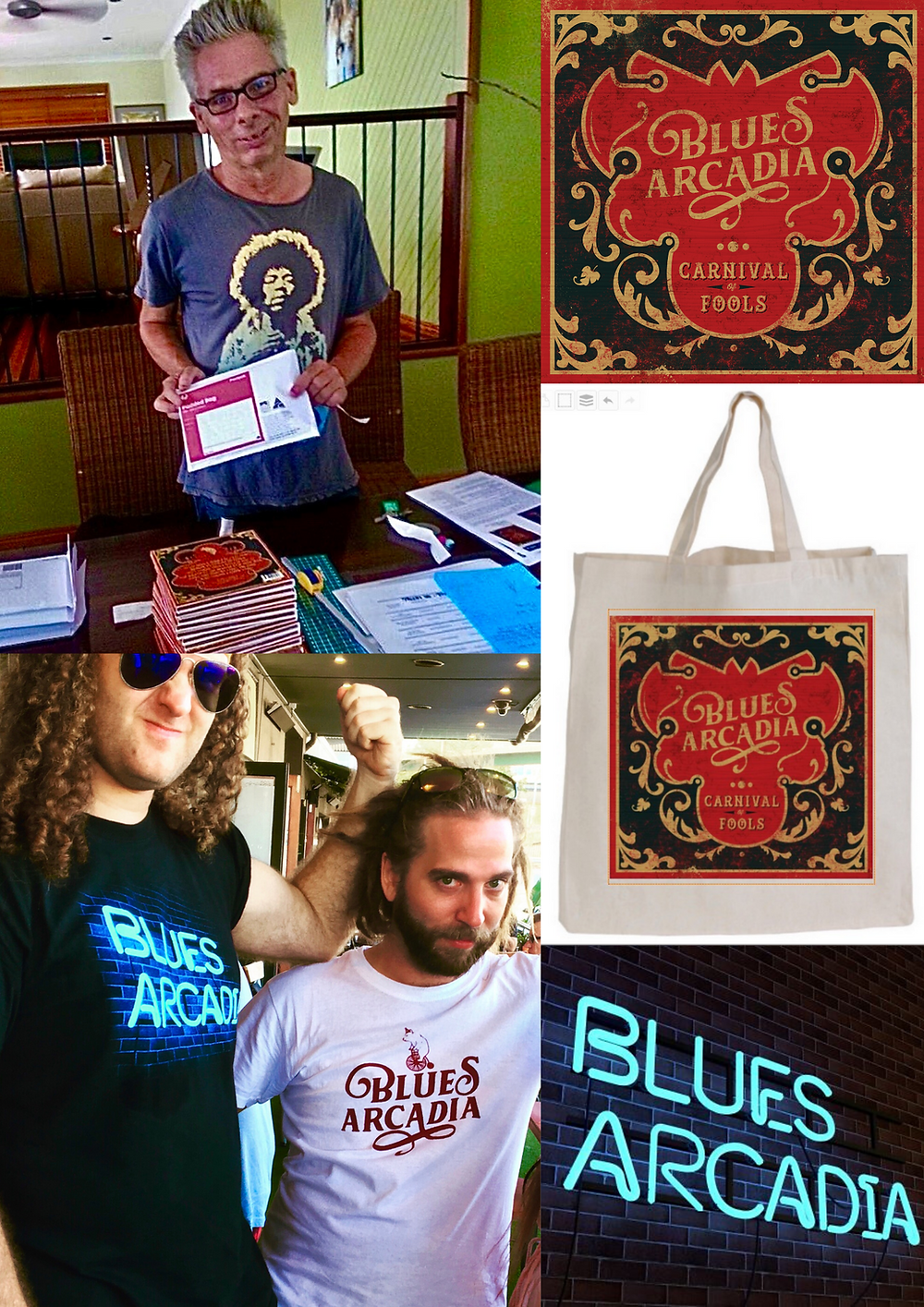 Blues Arcadia T-shirts and Apparel