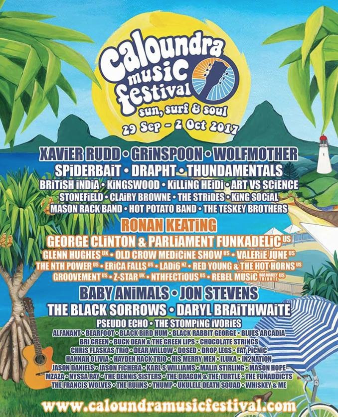 Blues Arcadia Caloundra Music Festival 2017