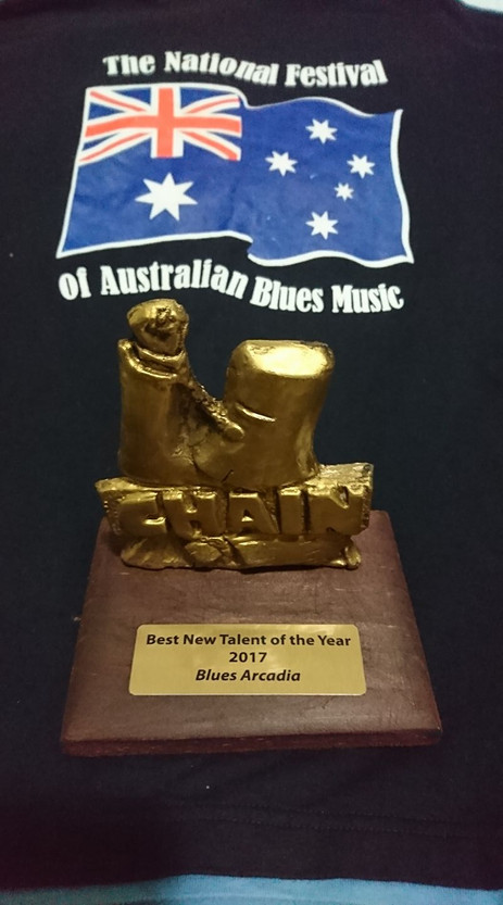 Winner of Best New Talent, 2017 Australian Blues Music Awards