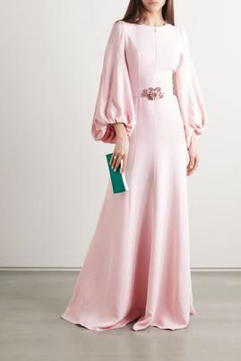 Pastel pink long dress