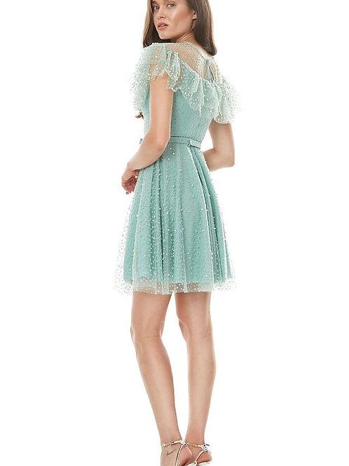 فستان تركواز قصير