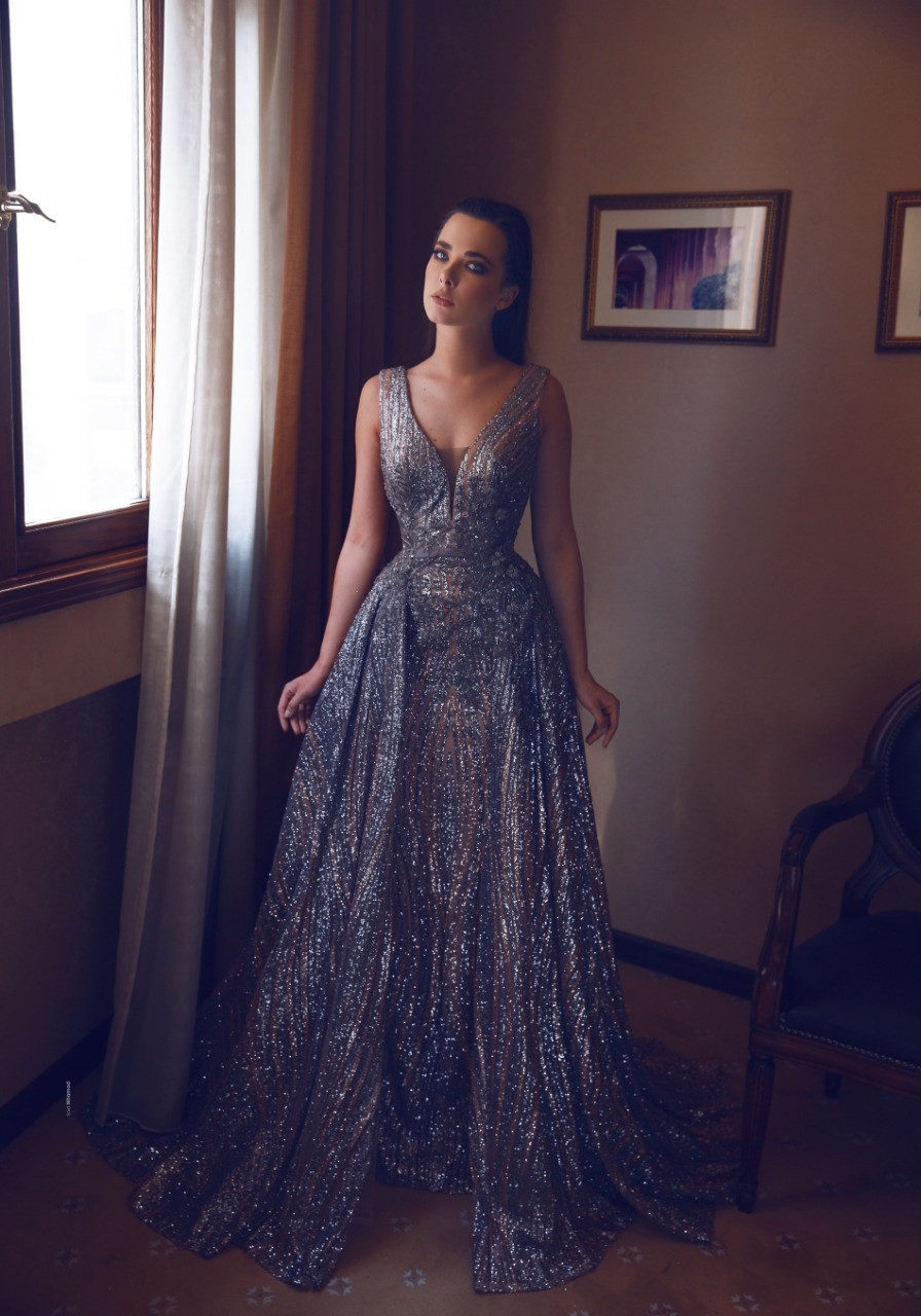 luxury Lebanese Sequins evening dresses from Scarlet couture ٍٍ