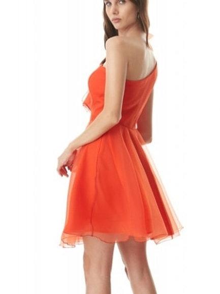 فستان قصير برتقالي