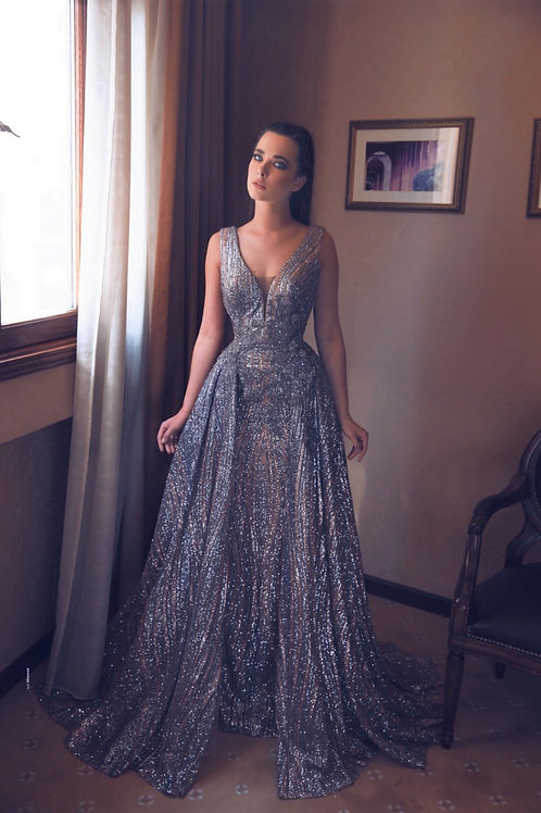 Gold Silver evening gown