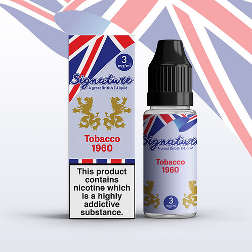 Signature 10ml –Tobacco 1960  Flavour