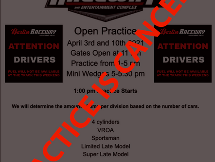 April, 10th Practice Canceled