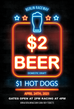 $2 Domestic Drafts and $1 Hot Dogs April 24th