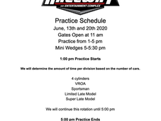 Saturdays Practice Schedule