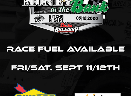 SUNOCO RACE FUEL AVAILABLE SEPT 11TH/12TH