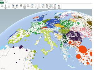Publica los datos de minería de datos en mapas 3D