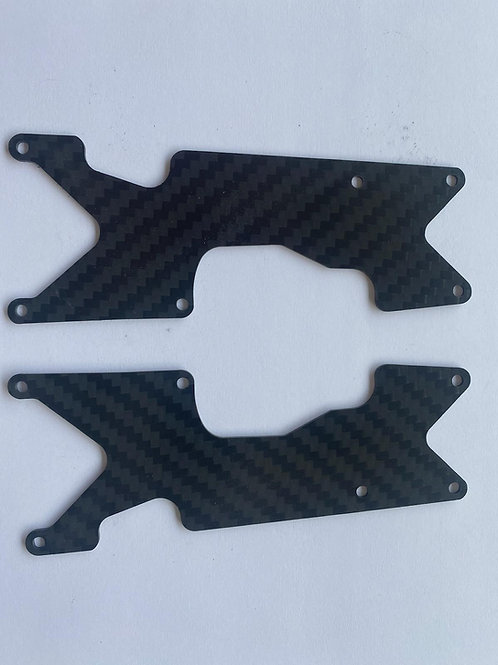 8IGHT XT 1.0mm Rear carbon fiber arm insert - Multiple colors