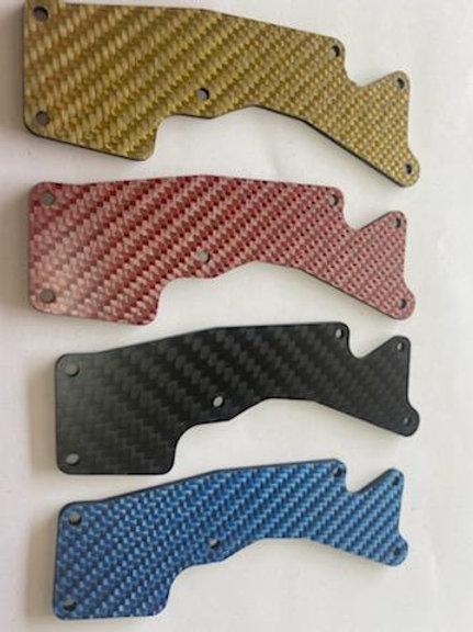 8IGHT XT 2.0mm FRONT carbon fiber arm insert - Multiple colors