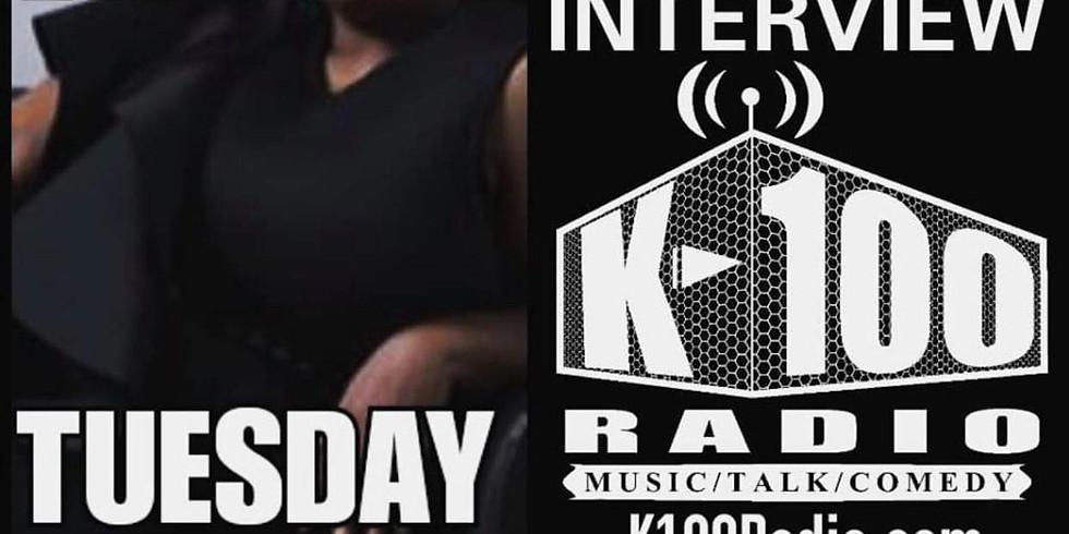 LADY BAIN K-100 RADIO INTERVIEW
