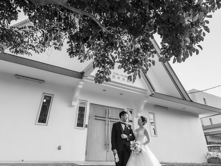 結婚式の撮影をしてきました。