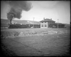Train Depot and Yampa River 1913