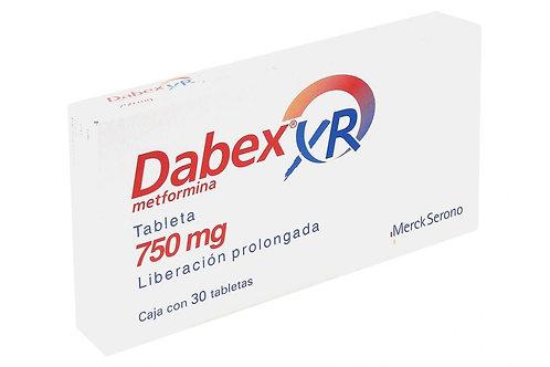 DABEX XR (METFORMIN) EXTENDED RELEASE 750 mg 30 tabs