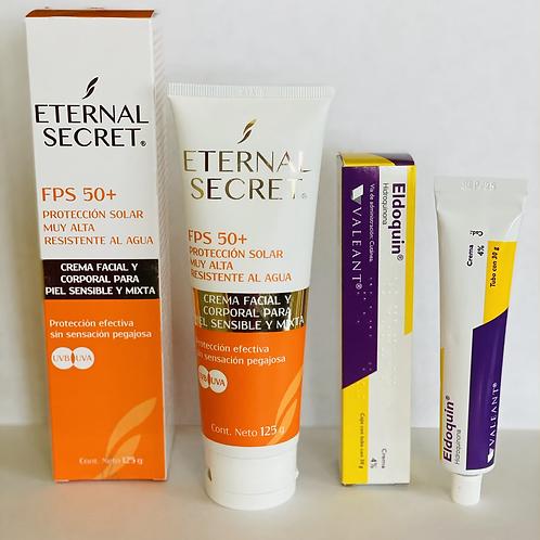 PROMO SPECIAL Eldoquin (Hidroquinona 4%) + ETERNAL SECRET SPF 50