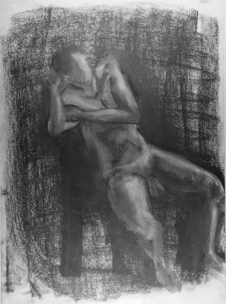 Jörg 2017, Kohle auf Papier 29,5x42,7 cm