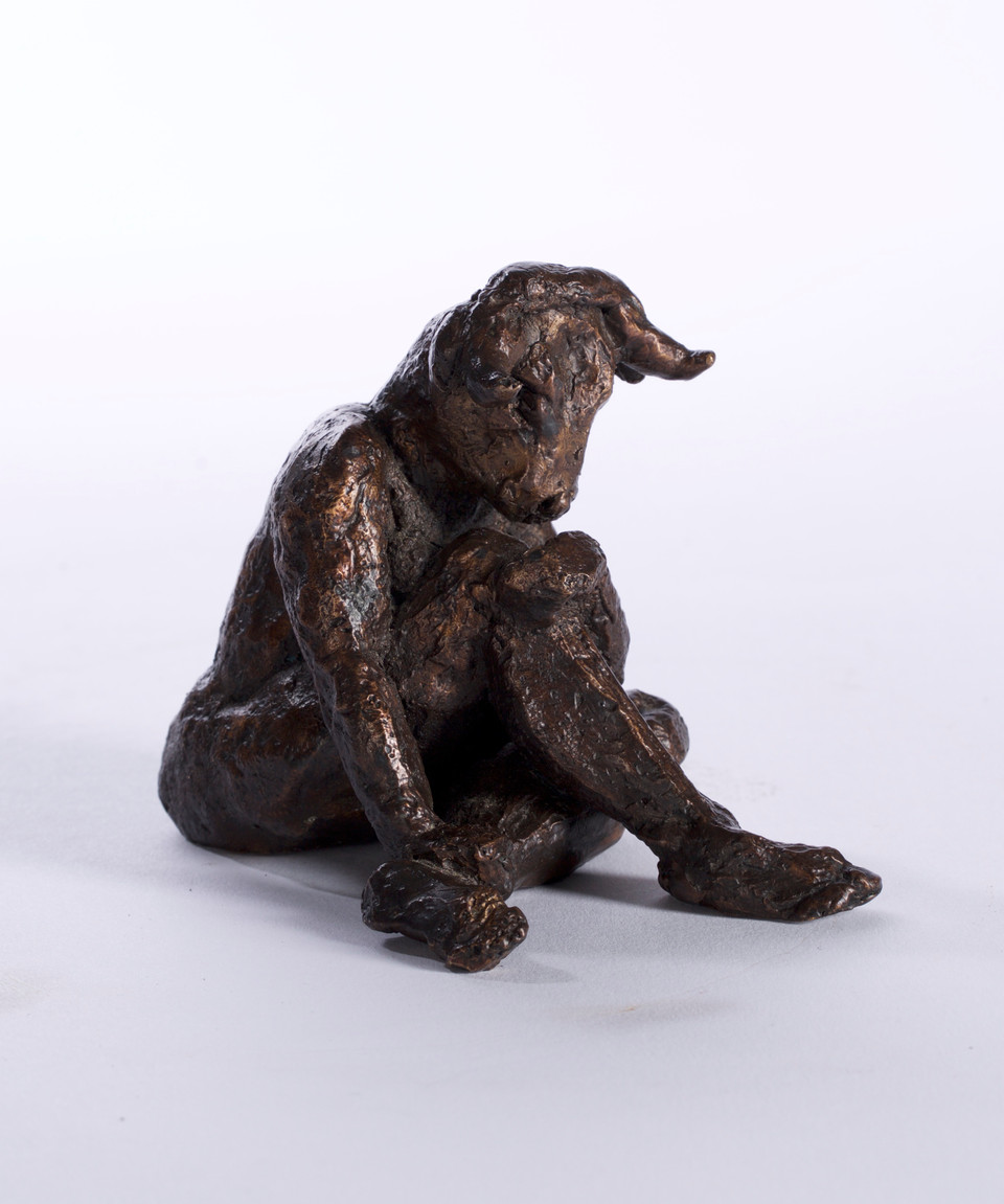 dumme Kuh 2018, Bronze 8,5x8x11,5 cm