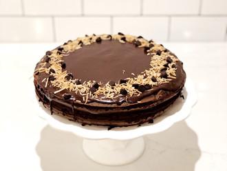 Coconut Stout Chocolate Cake
