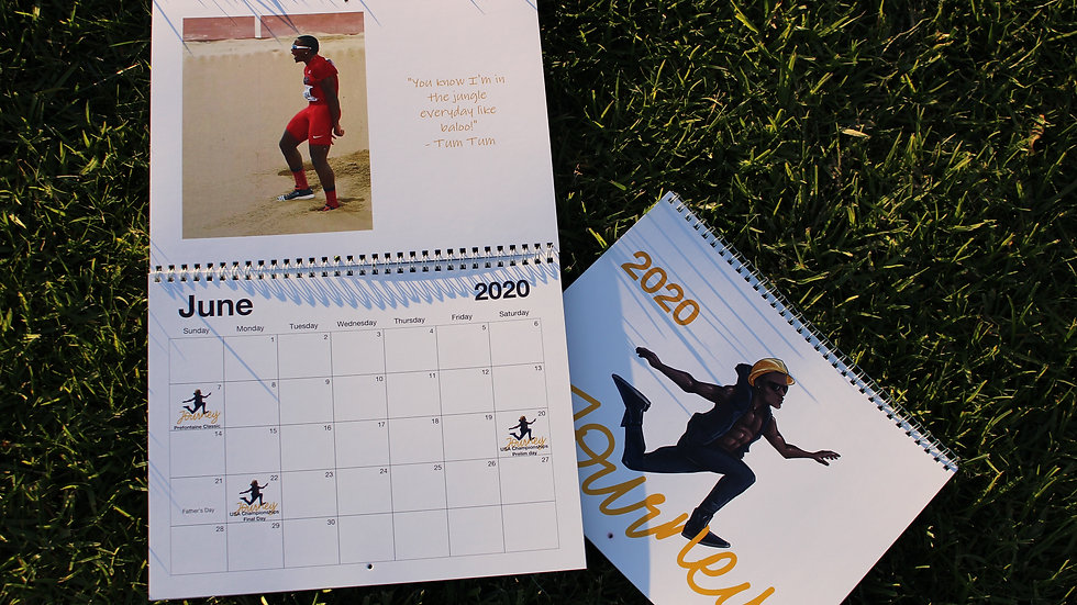 "2020""Journey"" Sport Calendar"