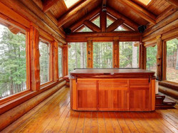 Log screen porch