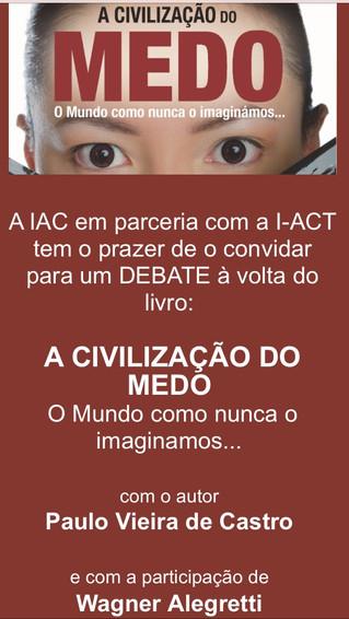 Lançamento-Debate: A Civilização do Medo (18 de Nov, Lisboa)