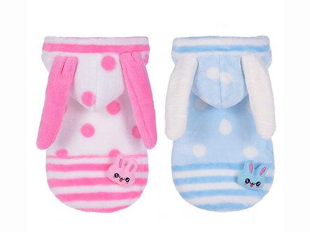 Kuscheliger Hunde-Hoodie 'Lovely little Bunny Coat' / XS-XL, Rosa oder Blau