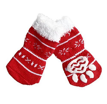 Warme Hundesocken mit ABS Größe 'Santa Claus is coming' / S-XL